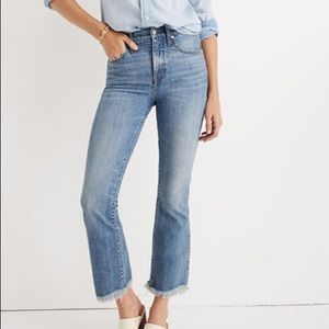 Madewell cali demi boot jeans in comfort stretch